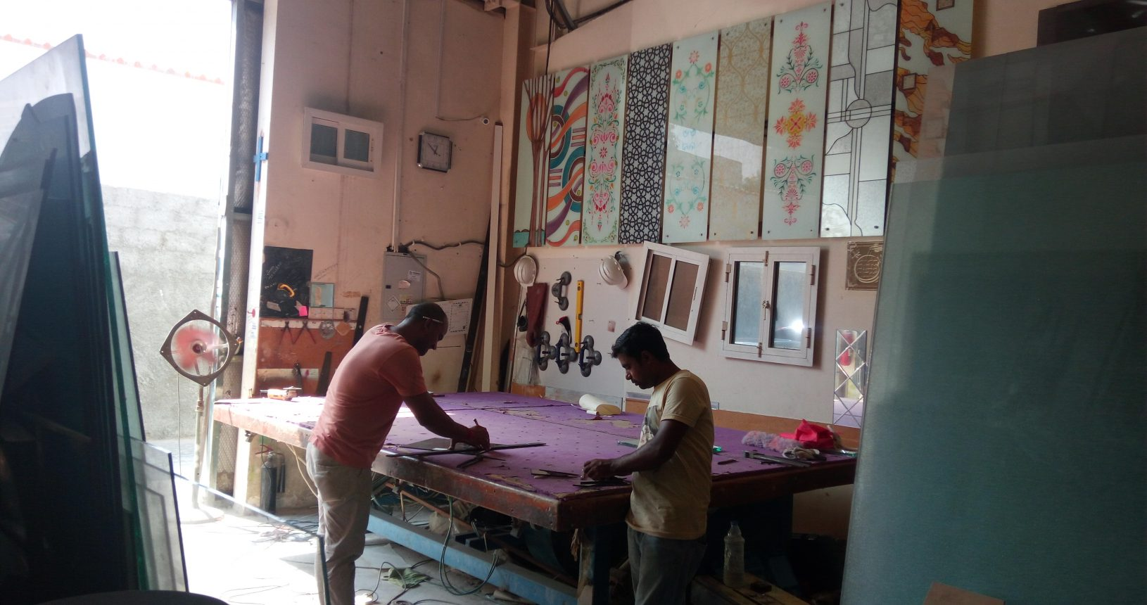 Burhani Glass Trading LLC workshop