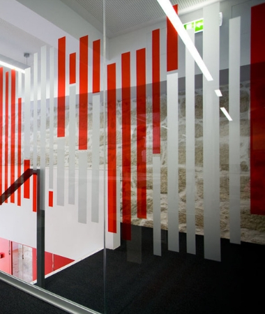 Frosted Glass Sticker Design for office glass partition