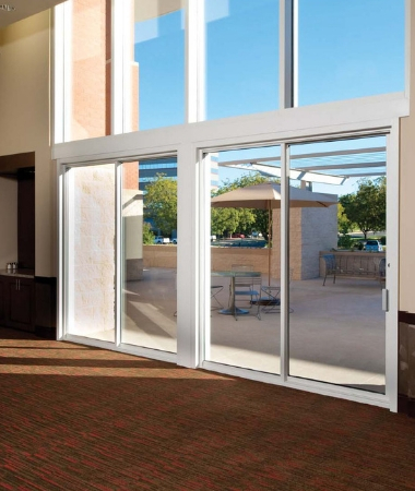 aluminium mall front glass door